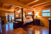 Grand master bedroom on the main level