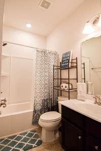 Nice full bath, shower/tub combo