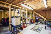 Main level in the detached garage