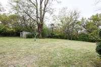Large rear yard