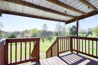 Covered rear deck, fabulous views