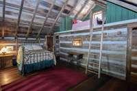 Super fun loft and large walk-in closet