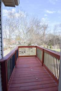Private deck off master, view of the rear yard
