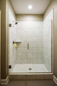 Very nice tile shower