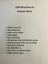 Feature Sheet