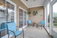 Lovely screened patio