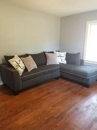 Relax on your comfortable sectional (included)