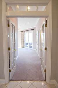 Fantastic French doors as you enter private owners wing