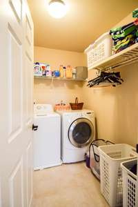 Utility room on the upper level