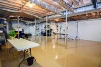Massive heated and cooled basement