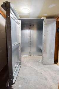 Fantastic storm shelter in garage