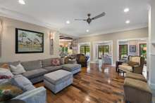 Family Room in the heart of this amazing estate keeping your family close