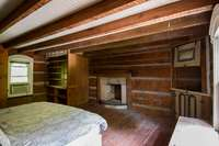 Very spacious upper level bedroom with fireplace