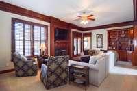 Handsome living room/rec room