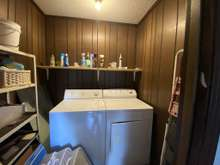 Laundry room for A side
