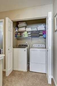 Laundry located upstairs