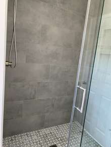 Plenty of room in this new shower