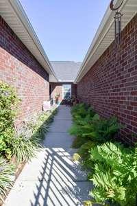 Lovely courtyard entrance