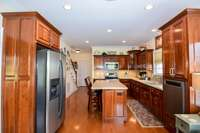 Deep rich cabinetry