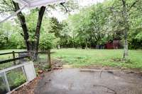 Rear yard and patio