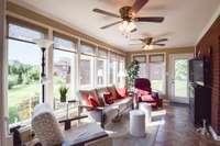 Wonderful heated and cooled sun room