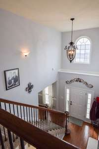 View of the foyer from the upper level