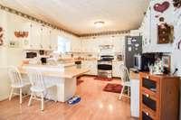 Crisp white cabinetry