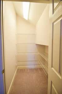 Walk-in closet in the bonus room