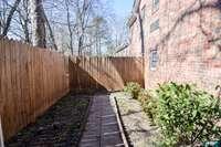 Fenced rear