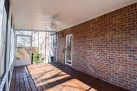 Private rear screened porch, double access points