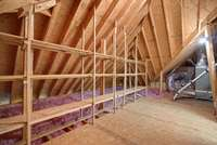 attic space with storage