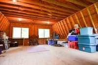 Upper level in detached garage
