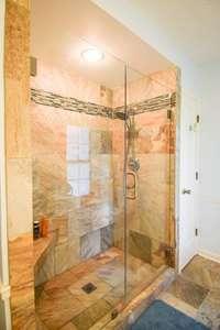Huge tile shower