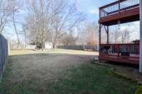 Large fenced rear yard