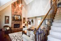 """Captivating view as you enter, soaring ceilings, 5"""" deluxe hardwood floors"""