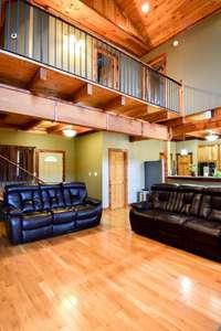 Gleaming oak floors, spruce ceiling, pine doors, Douglas fir beams and posts, cedar trim