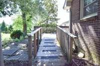 Ramp to rear deck and door