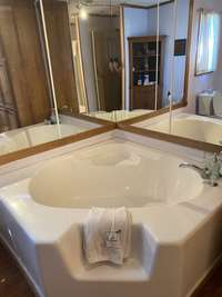 Master Suite with soak tub and seperate shower stall