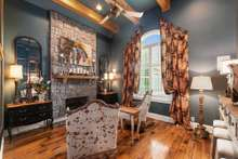 Office, Formal Living Room or Study... you have the option for this amazing vaulted room with gas fireplace just right off the Master Suite