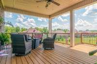 Must see all this outdoor living space!  Covered deck located off the main level with great views