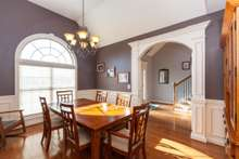 Great light in this dining room