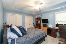 Bedroom 3 with 2 double closets