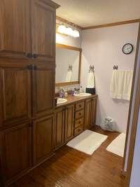 Beautiful custom cabinets and plenty of storage