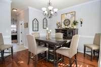 Splendid formal dining room
