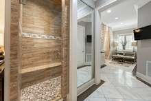 Elegant custom tile shower