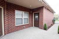 Door to garage from courtyard