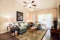 Splendid living room, door to rear covered patio