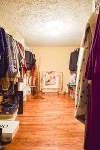 Very large walk-in closet