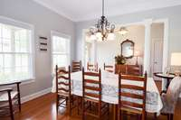 Another view of the formal dining room