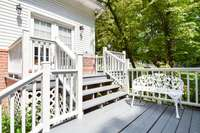Wonderful tiered deck, private and serene
